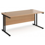 Value Line Deluxe C-Leg Rectangular Desk (Black Legs)