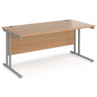 Value Line Deluxe C-Leg Rectangular Desk (Silver Legs)
