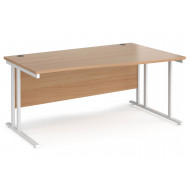 Value Line Deluxe C-Leg Right Hand Wave Desk (White Legs)