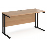 Value Line Deluxe C-Leg Narrow Rectangular Desk (Black Legs)