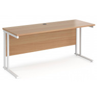 Value Line Deluxe C-Leg Narrow Rectangular Desk (White Legs)