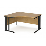 Value Line Deluxe Cable Managed Left Hand Ergo Desk (Black Legs)