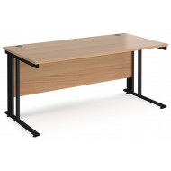 Next-Day Value Line Deluxe Cable Managed Rectangular Desk (Black Legs)