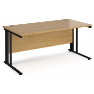 Value Line Deluxe Cable Managed Rectangular Desk (Black Legs)