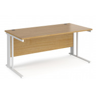 Value Line Deluxe Cable Managed Rectangular Desk (White Legs)