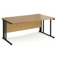 Value Line Deluxe Cable Managed Right Hand Wave Desk (Black Legs)