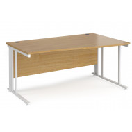 Value Line Deluxe Cable Managed Right Hand Wave Desk (White Legs)