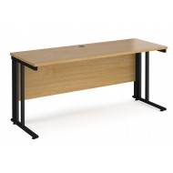Value Line Deluxe Cable Managed Narrow Rectangular Desk (Black Legs)