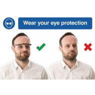 Wear Your Eye Protection Do's And Don'ts Safety Sign