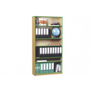 5 Shelf Coloured Edge Bookcase
