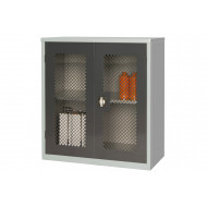Elite Mesh Fronted Stock Control 1 Shelf Cupboard