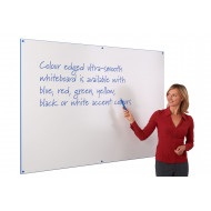Colour edged whiteboard