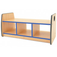 Junior Double Sided Bench Storage Unit With Laminate Top