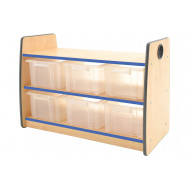 Junior 2 Shelf Storage Unit With 6 Clear Tubs