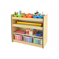 Junior Arts And Craft Storage Unit With 3 Shelves