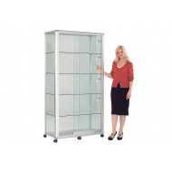 Shield Wide Glazed Tower Display Case