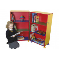 Mobile fold away bookcase