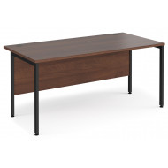 Value Line Deluxe H-Leg Rectangular Desk (Black Legs)