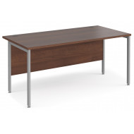 Value Line Deluxe H-Leg Rectangular Desk (Silver Legs)