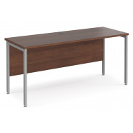 Value Line Deluxe H-Leg Narrow Rectangular Desk (Silver Legs)