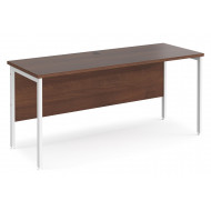 Value Line Deluxe H-Leg Narrow Rectangular Desk (White Legs)