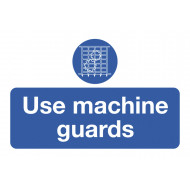 Use Machine Guards On The Spot Safety Labels