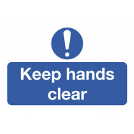 Keep Hands Clear On The Spot Safety Labels