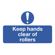 Keep Hands Clear Of Rollers On The Spot Safety Labels