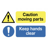 Caution Moving Parts Keep Hands Clear On The Spot Safety Labels