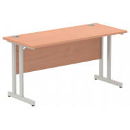Vitali C-Leg Narrow Rectangular Desk (Silver Legs)