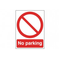 No Parking Post Mounted Safety Sign