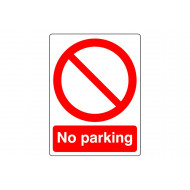 No Parking Outdoor Sign