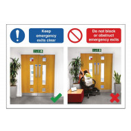 Keep Emergency Exits Clear Do's And Don'ts Safety Sign