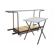 Folding Exam Desk Bundle Deal (40 Desks & 1 Trolley)