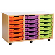 18 Shallow Tray Storage Unit