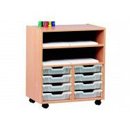 Mobile Art Storage Unit With 8 Trays