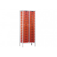 Metal Tray Storage Unit With 38 Trays