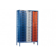 Metal Tray Storage Unit With 57 Trays