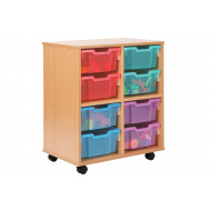 Allsorts 4 Cube Bookcase With 8 Deep Trays