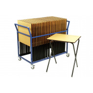 Premium Folding Exam Desk Bundle Deal (25 Desks & 1 Trolley)