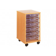 6 Clear Shallow Tray Storage Unit