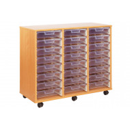 24 Clear Shallow Tray Storage Unit