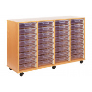 32 Clear Shallow Tray Storage Unit