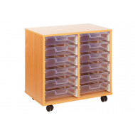12 Clear Shallow Tray Storage Unit