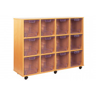 12 Clear Jumbo Tray Storage Unit