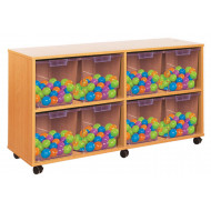 8 Clear Jumbo Tray Storage Unit