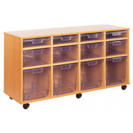 12 Clear Variety Tray Storage Unit