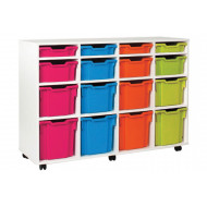 White 16 Variety Tray Storage Unit