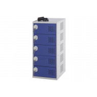 Personal effects charging locker with 5 doors
