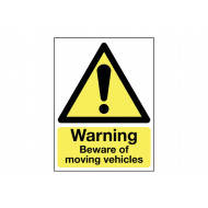 Warning Beware Of Moving Vehicles Outdoor Sign
